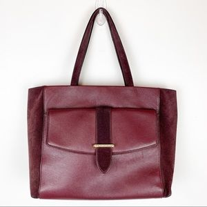 KATE SPADE LEATHER TOTE BURGUNDY